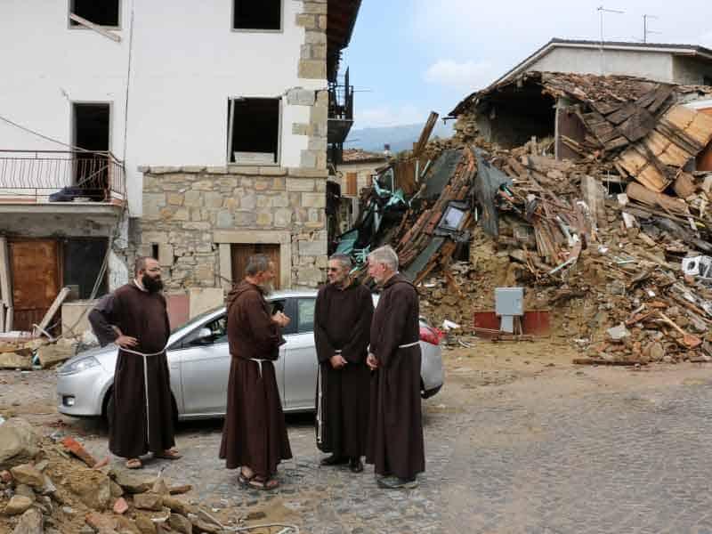 Os Capuchinhos quase dois anos após o terramoto